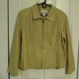 Preston & York Leather Jacket Gold Color